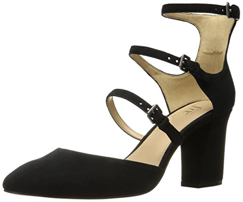 The Fix Women's Cooley Three Buckle Closed-Toe Mary Jane Dress Pump,Black,8 B (3 Buckle Black Pump)