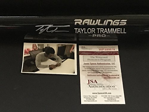 Taylor Trammell Cincinnati Reds Autographed Signed Black Baseball Bat JSA WITNESS COA