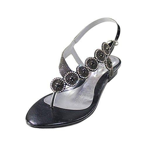 pour Walk amp; Noir femme noir UK Wear Sandales OHvagAq