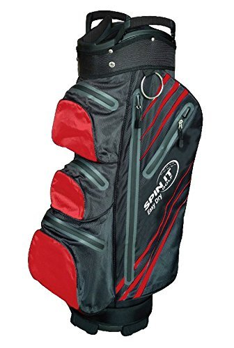 Easy Dry - Water Resistant Golf Bag - Black/Red