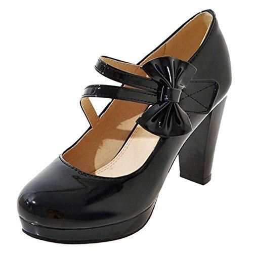 COOLCEPT Women Office Shoes Heels Pumps Shoes Black-2 7M7xcf6k