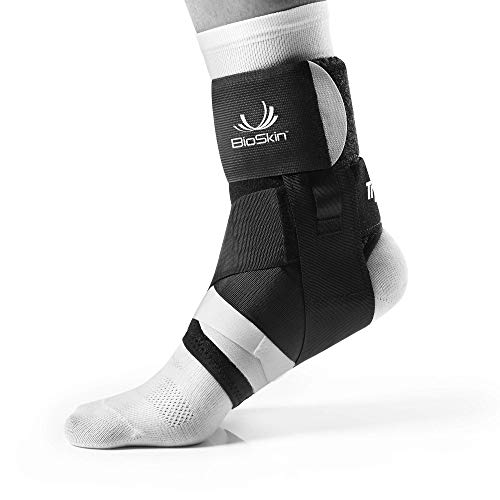 BioSkin Trilok Ankle Brace - Foot and Ankle Support for Ankle Sprains, Plantar Fasciitis, PTTD, Tendonitis and Active Ankle Stability - Lightweight, Hypo-Allergenic (Medium) (Best Ankle Support Brace)