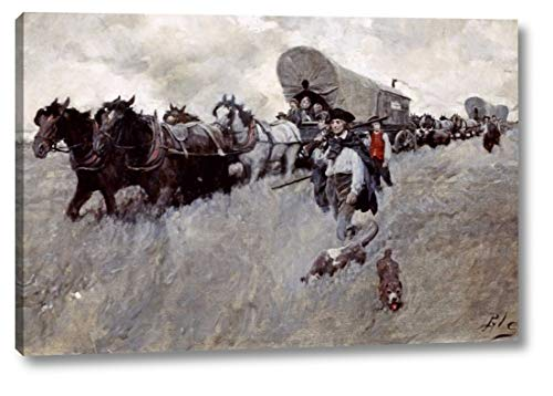 Wall Howard Graphic - The Connecticut Settlers Entering The Western Reserve by Howard Pyle - 8