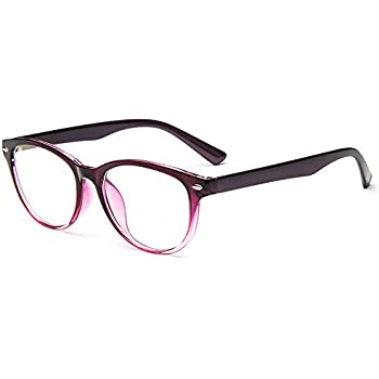 864e51cd26b Lasree Fashion Reading Glasses +4.25 Lenses Mens Womens Readers Purple Frame  Longsighted Spectacles