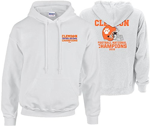 Clemson Tigers 2016 National Champions Hooded Sweatshirt White (2017 championship) - XXL