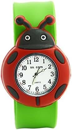 Unisex 3D Cartoon Beatles Kids Watch Sports Watch Bendable Rubber Strap Wrist Watch