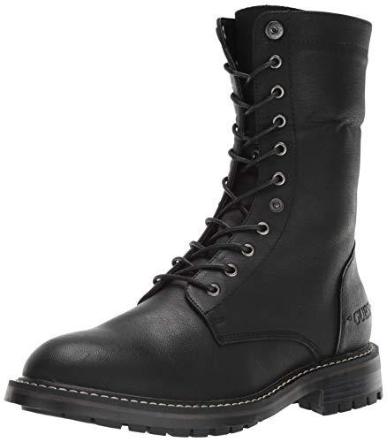 GUESS Men's Rune Combat Boot, Black, 9.5 M US