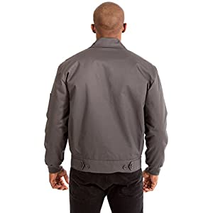 JH Design Men's Mechanics Style Work Jacket (XXXL, Charcoal)