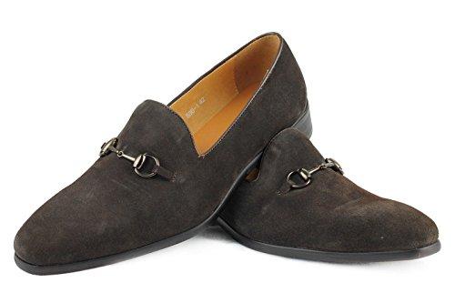 Herren Echt Leder Wildleder braun Schnalle rutschfest auf Italienischer Stil Formale Kleid Schuhe
