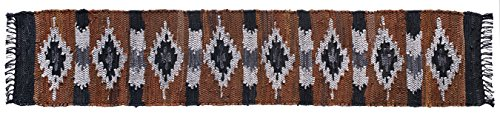 Home Furnishings by Larry Traverso Snake River Canyon Handwoven Leather Table Runner, 13-Inches by 78-Inches, Multi Colored - Leather Table Runner