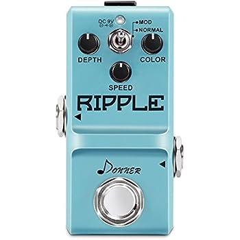 Donner Ripple Classic Tremolo Guitar Effect Pedal Supper Mini