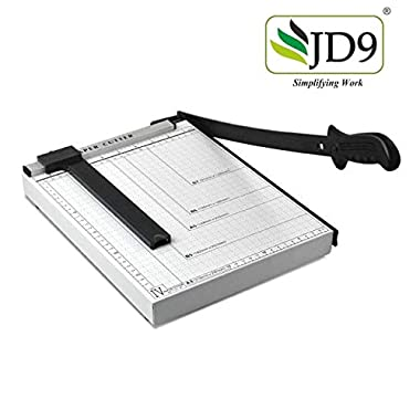 JD9 Paper Cutter A4 Heavy Duty Professional Paper Trimmer, Guillotine Craft Machine for Office, Home, Craft, Photo Studio (A4, B5, A5, B6, B7) (White, 12.5 x 9.8 x 1.2 inch) 14