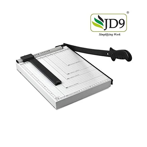 JD9 Paper Cutter A4 Heavy Duty Professional Paper Trimmer, Guillotine Craft Machine for Office, Home, Craft, Photo Studio (A4, B5, A5, B6, B7) (White, 12.5 x 9.8 x 1.2 inch) 7