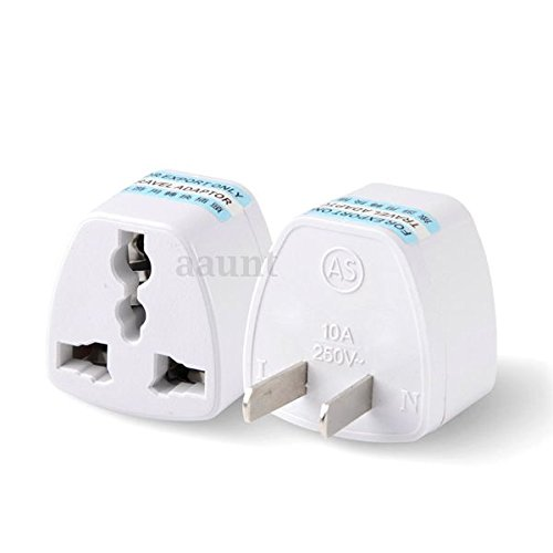 Price comparison product image Tmvel 2 Packs of High Performance Universal UK/EU/ AU to US Adapter Travel Plug Adapter Convert ...