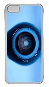 Customized iphone 5C PC Transparent Case - Web Camera Personalized Cover