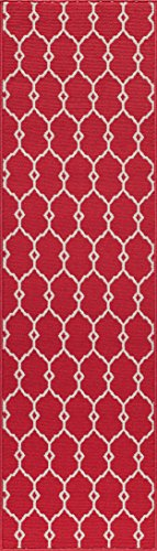 Momeni Rugs BAJA0BAJ-2RED2376, Baja Collection Contemporary Indoor & Outdoor Area Rug, Easy to Clean, UV protected & Fade Resistant, 2'3
