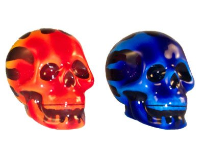Buy Flaming Skull Set Of Salt And Pepper Shakers Online At Low