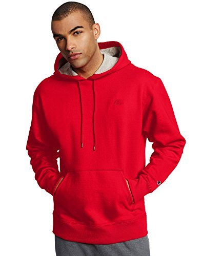 Champion Powerblend Blend Pullover Hoodie Team Red Small ()