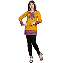 Maple Clothing Kurti Tunic Top Printed Womens Blouse Indian Clothes