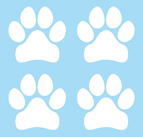 I Make Decals Tiny Puppy Paws, pet, Canine, Best Friend, Puppy Love, White Vinyl Decal, Sticker, Label for car, Cell Phone, Window, Computer, iPad, iPhone, Wall, etc.
