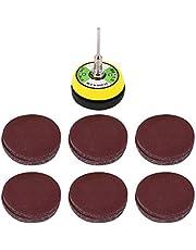 Exanko 60 st slippapper slipskiva med 50 mm poleringsdyna, korn slipplatta kornpapper, storlek 100, 240, 600, 800, 1000, 2000 för roterande verktyg excentrisk slipmaskin