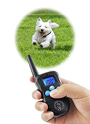 Dog Training Collar - Dog Remote Training Collar | 300 Meter Range | Static Shock Collar w/Humane Vibration & Beep Option | Waterproof Rechargeable Transmitter & Receiver | Safe For Dogs of All Sizes