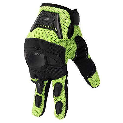 ATV Motocross Dirt Bike Motorcycle Powersports Street Bike Racing Gloves 02 (S, 12 Green) ()