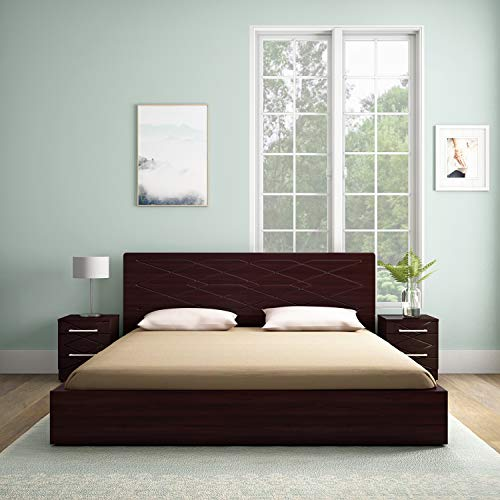 GODREJ INTERIO Engineered Wood Maze King Size Bed with Storage  Brown, Cinnamon