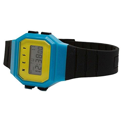 Neff Adult Flava Watch - Black/Cyan/Yellow One Size