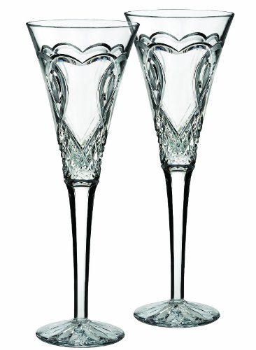 Waterford ''Wedding'' Set Of 2 Flutes by Waterford