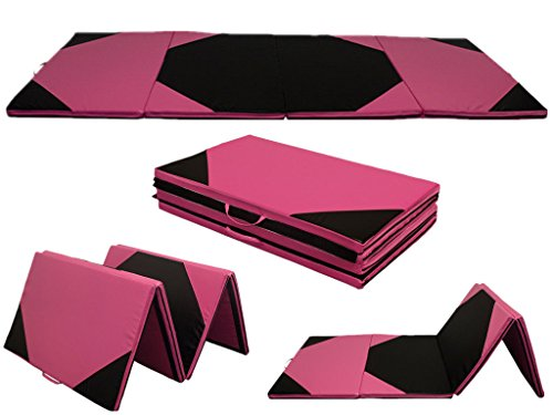 "4'x6'x2"" Folding Gymnastics Gym Tumbling Mats Exercise Aerobics Mats Stretching Fitness Yoga mat"