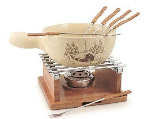 Swissmar - Chalet 10 Pc Ceramic Fondue Set