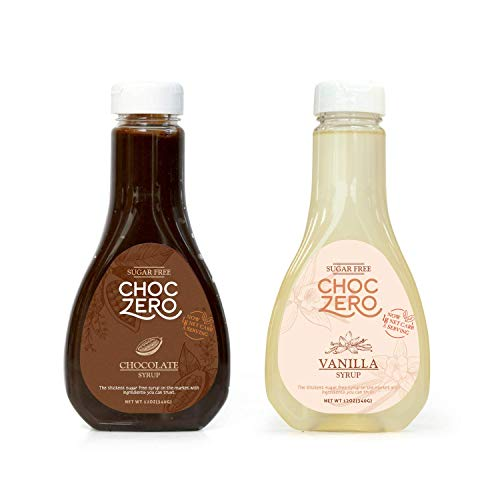ChocZero's Chocolate and Vanilla Syrup. Sugar Free, Low Net Carb, No Preservatives. Gluten Free. No Sugar Alcohols. Dessert toppings and baking syrups for keto (2 bottles) by ChocZero (Image #5)