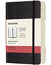 Moleskine Planner Diary 2019 12M Daily Pocket Black Soft Cover, 14 x 9.5 cm