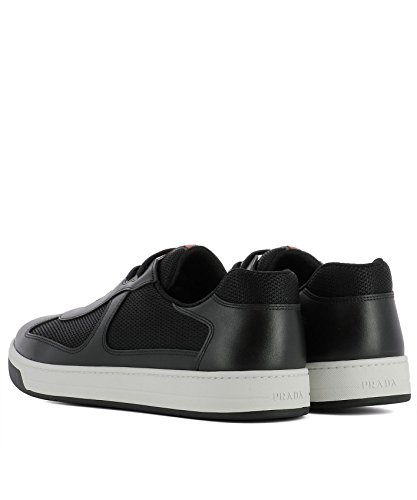 Prada Herren 4E316600VF0002 Schwarz Leder Sneakers