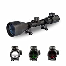 RioRand Tactical Rifle Scope 3-9X56 Red&Green Mil-dot Illuminated Optics Optical Scope