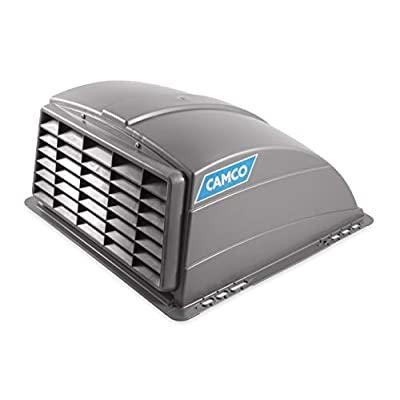 Camco Standard Roof Vent Cover, Opens for Easy Cleaning, Aerodynamic Design, Easily Mounts to RV with Included Hardware-Silver (40473): Automotive