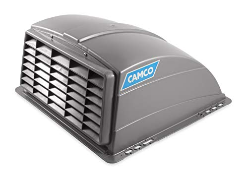 Camco Silver Standard Roof Vent Cover, Opens for Easy Cleaning, Aerodynamic Design, Easily Mounts to RV with Included Hardware (40473)