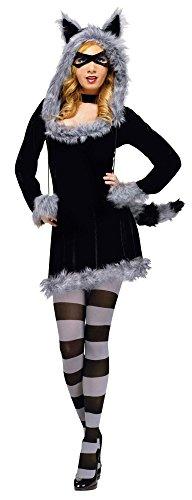 Fun World Women's Racy Raccoon Adult Costume, -Multi, Small/Medium]()