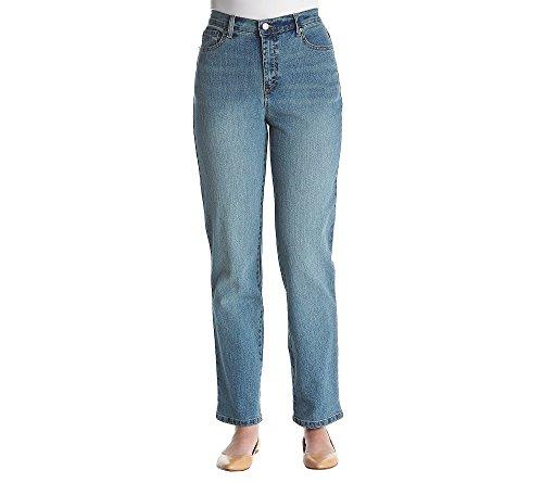 Gloria Vanderbilt New Amanda Average Denim Jeans Bleecker Wash (Average Denim)