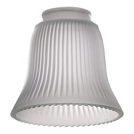 Frost ribbed bell glass shade for ceiling fan light kit amazon frost ribbed bell glass shade for ceiling fan light kit aloadofball Images