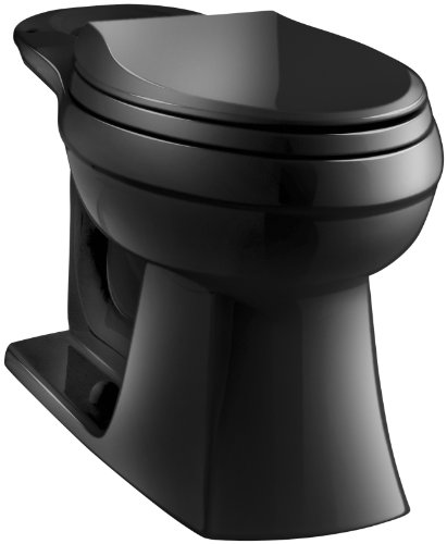 - Kohler K-4306-7 Kelston Toilet Bowl, Black Black