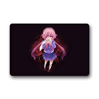 "Fashionable Design Japanese Anime Yuno Gasai Future Diary Doormat,Indoor/Outdoor Floor Mat 23.6""L x 15.7""W"