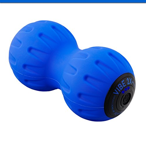 Vibe 2X Power Peanut - Vibration Therapy Massage Ball & Exercise Roller for Cordless Rechargeable Myofascial Release, Deep Tissue, Trigger Point & Sports Massage by Body Back Company -