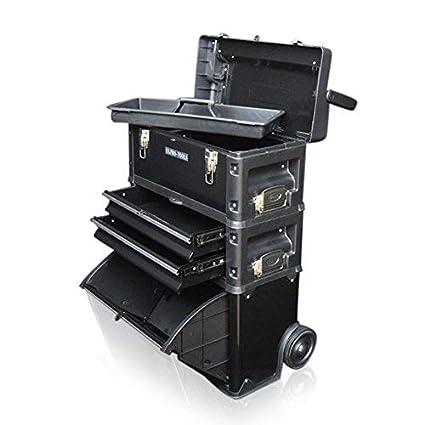 Caja 3 en 1 para herramientas, de la marca Us Pro Tools, con ruedas