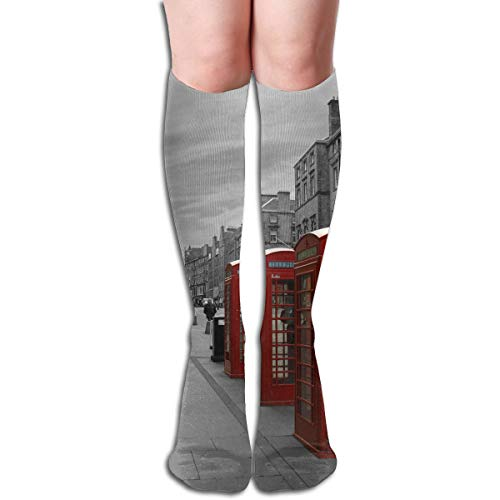 Socks Retro Red Telephone Booth Landscape WoWomens for sale  Delivered anywhere in USA