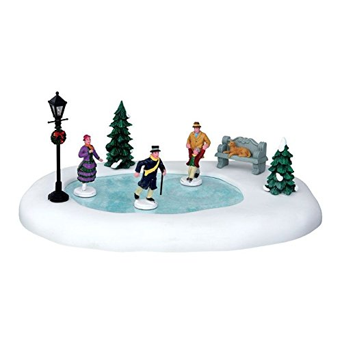 Lemax Christmas Village, Skating In The Park 8pcs