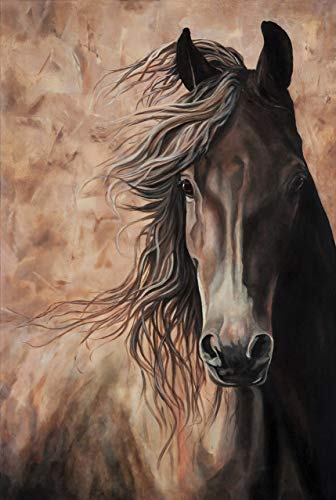 WISDOM II - Horse Print 16 X 24 inch From Acrylic Horse Painting Equine Fine Art Print Dressage Horse Home ()