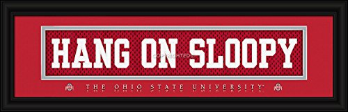 Ohio State Buckeyes Stitched Uniform Slogan Print - HANG ON SLOOPY from Prints Charming