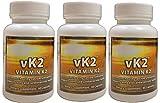 3 Pack of vK2 -Vitamin K2 (MK4 and MK7)